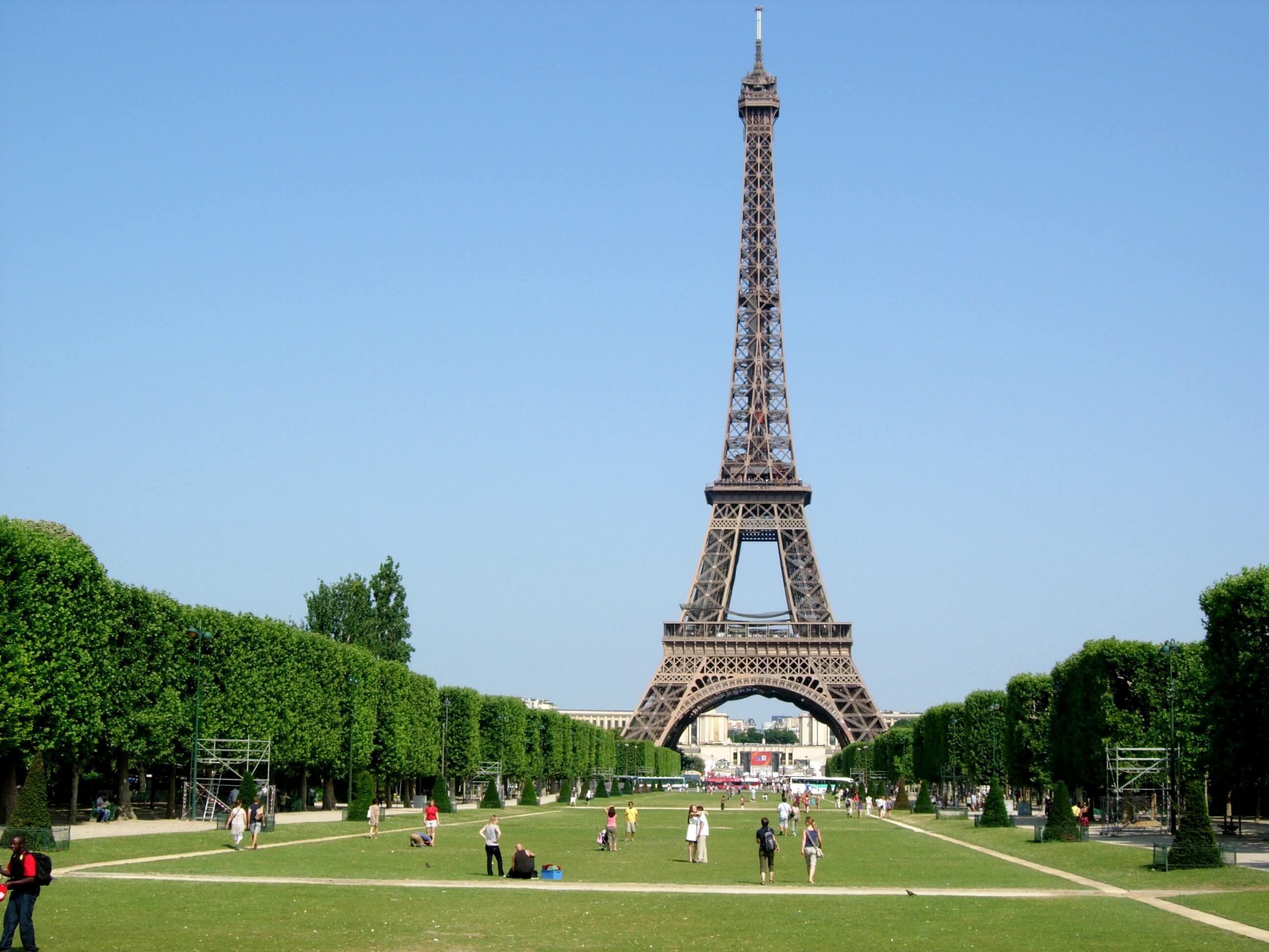 Champs de Mars in Paris, France